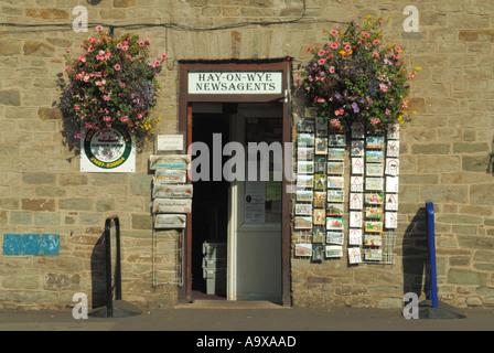 Hay on Wye newsagents - Stock Photo