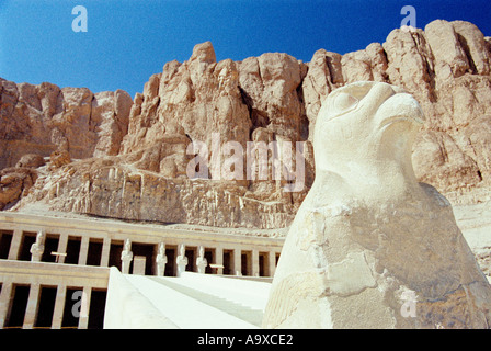 Deir al Bahri also called temple of Queen Hatshepsut close to Valley of the Kings in Luxor Egypt - Stock Photo
