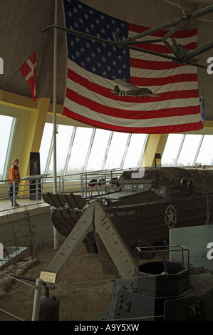 Utah Beach museum Normandy northern France Europe - Stock Photo