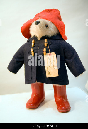 Paddington Bear, fictional character in childrens book - Stock Photo