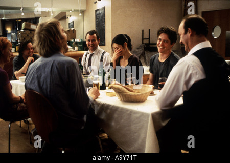 NOTTING HILL - 1999 Polygram film with Hugh Grant second from right - Stock Photo