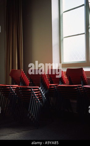 School Chairs Stacked
