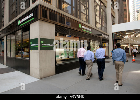 A TD Ameritrade Holding Corp branch on Wall Street - Stock Photo