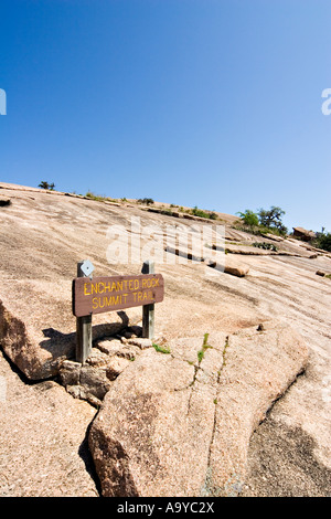 The summit trail at Enchanted Rock State Natural Area Fredericksburg Texas - Stock Photo