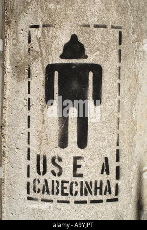 Creative promotion for condoms / AIDS campaign: Use your little head (portuguese: use a cabecinha), Rio de Janeiro, - Stock Photo