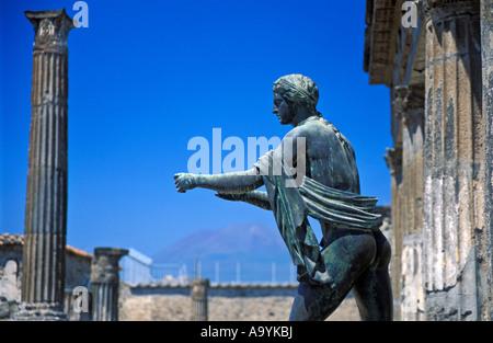 Apollo statue, Apollo temple, Pompeii, Campania, Itay - Stock Photo