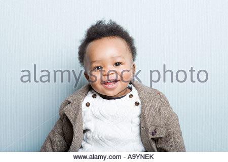 Portrait of a baby boy - Stock Photo