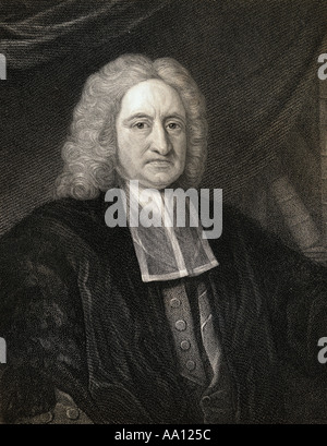 Edmond Halley, 1656 - 1742.  English astronomer and mathematician. - Stock Photo