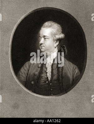 Edward Gibbon, 1737 -1794. English rationalist, historian, scholar, writer and Member of Parliament. - Stock Photo