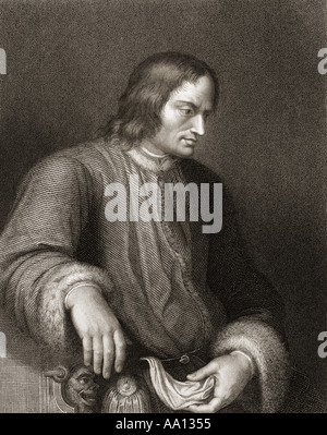 Lorenzo de' Medici aka Lorenzo the Magnificent,1449 - 1492. Florentine  magnate, diplomat, politician and patron - Stock Photo