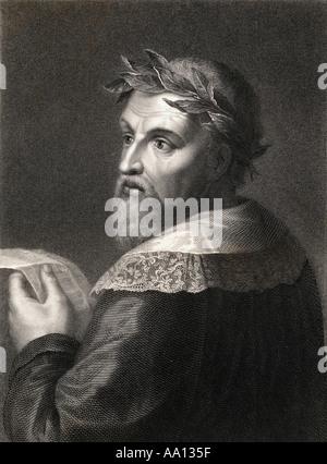 Ludovico Ariosto, 1474 -1533.  Italian poet. - Stock Photo