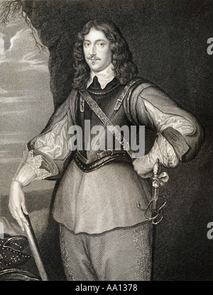 Montagu Bertie, 2nd Earl of Lindsey, 1608-1666. English Royalist soldier, courtier, and politician. - Stock Photo