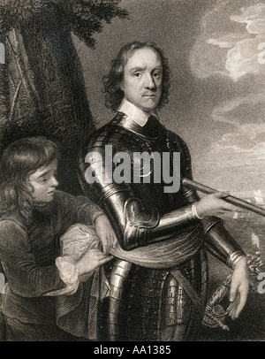 Oliver Cromwell, 1599 - 1658.  English military and political leader. - Stock Photo