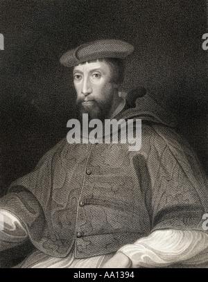 Reginald Pole, 1500 – 1558. English cardinal of the Catholic Church and the last Catholic Archbishop of Canterbury. - Stock Photo