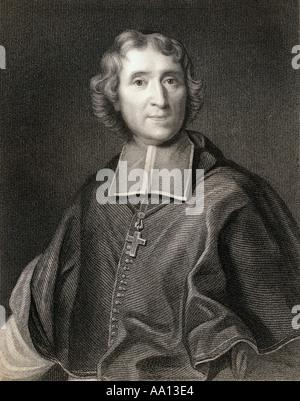 François de Salignac de la Mothe-Fénelon, aka François Fénelon, 1651 -1715. French Roman Catholic archbishop, theologian, - Stock Photo