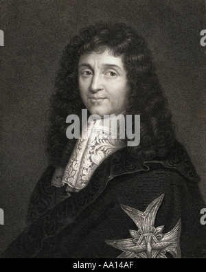 Jean-Baptiste Colbert, 1619 –1683. French politician who served as the Minister of Finance under King Louis XIV. - Stock Photo