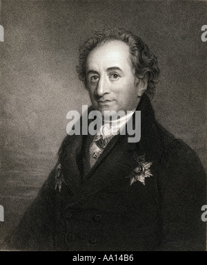 Johann Wolfgang von Goethe, 1749 -1832.  German writer and statesman. - Stock Photo