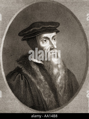 John Calvin, born Jehan Cauvin, 1509 – 1564. French theologian, pastor and reformer - Stock Photo