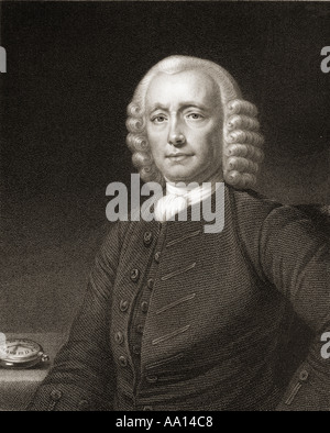 John Harrison, 1693 - 1776.  English horologist and inventor. - Stock Photo