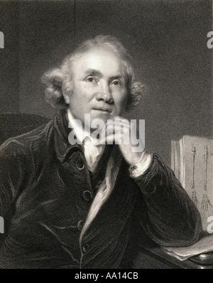 John Hunter, 1728 - 1793. Scottish surgeon, founder of pathological anatomy in England - Stock Photo