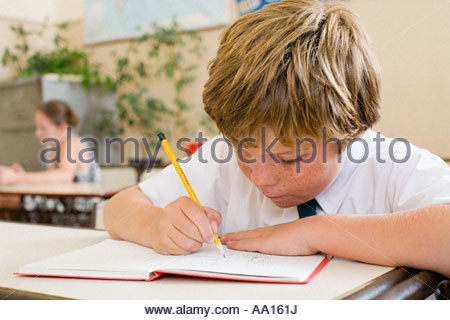 Boy in school - Stock Photo