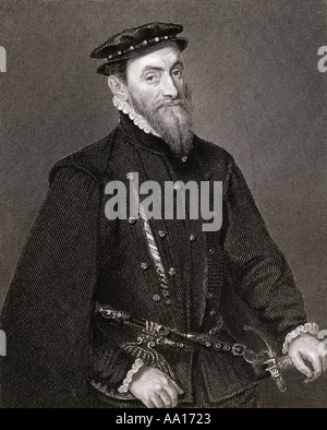 Sir Thomas Gresham the Elder, c. 1519 – 1579. English merchant, financier and founder of the Royal Exchange. - Stock Photo