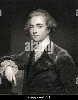 Sir William Jones, 1746 - 1794. Anglo-Welsh philologist, Orientalist and jurist. - Stock Photo