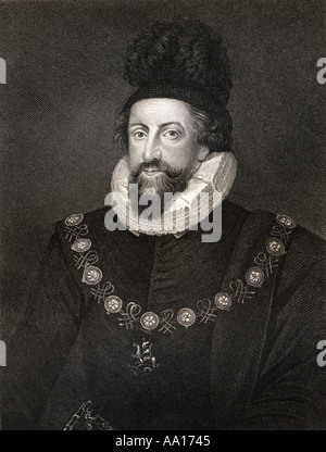 Admiral Thomas Howard, 1st Earl of Suffolk, 1561 – 1626. Lord Howard of Walden. An English commander during the - Stock Photo