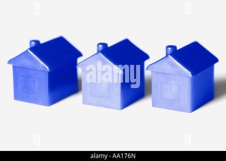 Blue model houses - Stock Photo