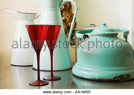 Vintage kitchen items - Stock Photo