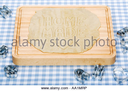 Pastry and pastry cutters - Stock Photo