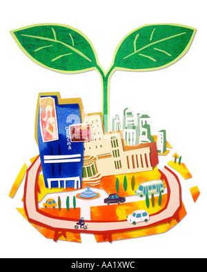 Illustration City - Stock Photo