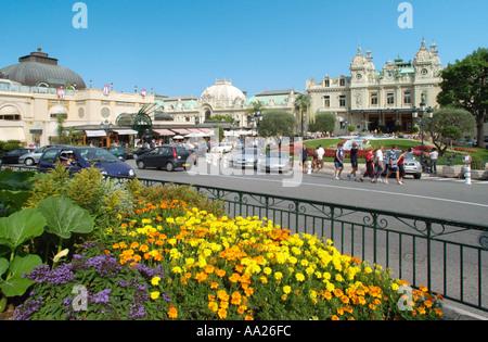 Place du Casino, Monte Carlo, Monaco - Stock Photo