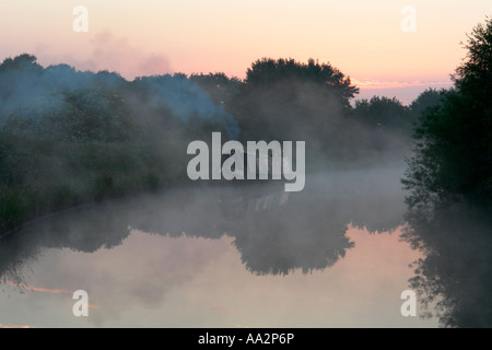 dawn on the bridgewater canal - Stock Photo