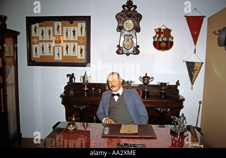 Joan Gamper, early 20th century president, Nou Camp Stadium, Barcelona Football Club, Barcelona, Spain - Stock Photo