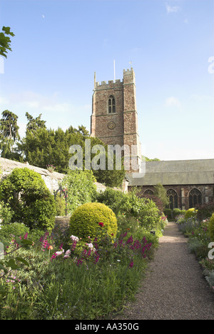 Dunster Church Garden Exmoor Somerset UK May - Stock Photo