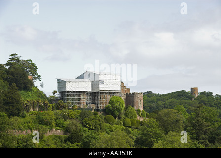 Dunster castle under refurbishment Exmoor Somerset 2007 - Stock Photo