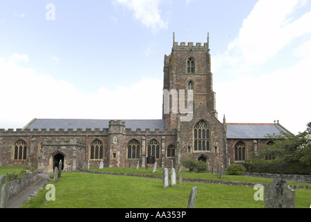 Dunster Church Exmoor Somerset UK May - Stock Photo