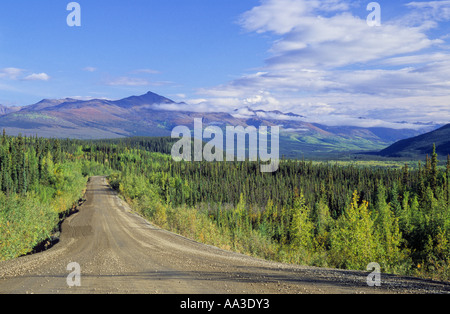 Canada Canadian Dempster Highway Dirt Road Indian Summer