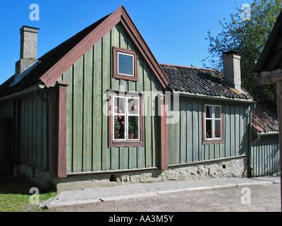 Old house like it was once in Norway, Norwegian folk museum, Oslo, Norway - Stock Photo