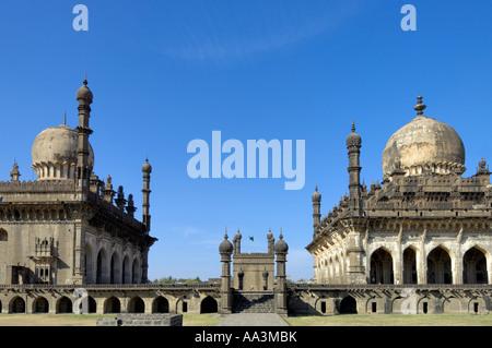 Ibrahim Rauza mausoleum Bijapur Karnataka South India - Stock Photo