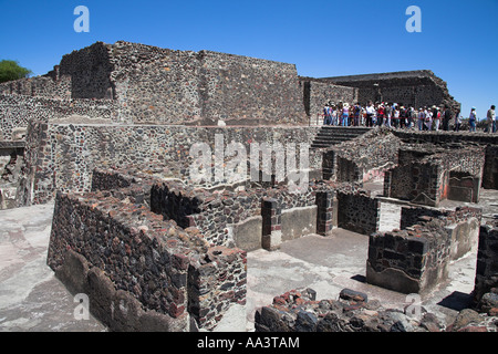 Tourists at the Teotihuacan Archaeological Site, Teotihuacan, Mexico City, Mexico - Stock Photo
