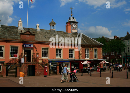 city of Carlisle town centre shopping Cumbria, in England. - Stock Photo