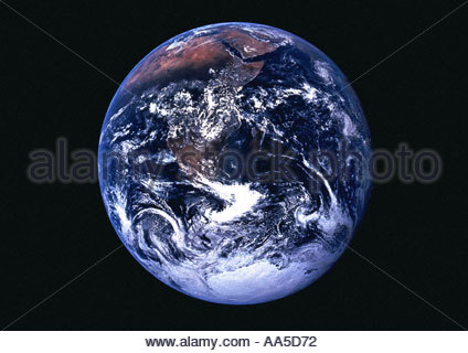 The Earth as seen from space taken by satellite - Stock Photo