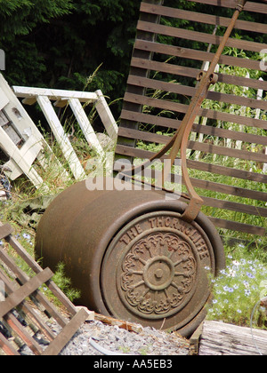 Garden roller South Wales GB UK 2003 - Stock Photo