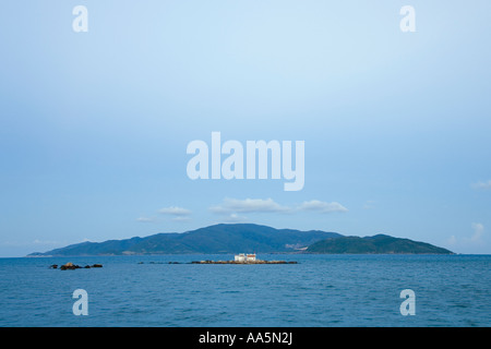 VIETNAM NHA TRANG CITY Buddhist temple on the tiny island of Hon Du also known as Red Island in the South China - Stock Photo