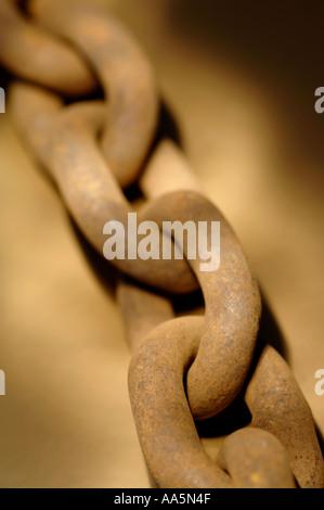 Heavy duty chain links - Stock Photo