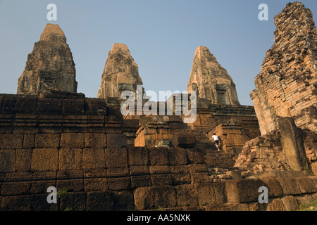 Angkor Cambodia. Pre Rup temple - Stock Photo