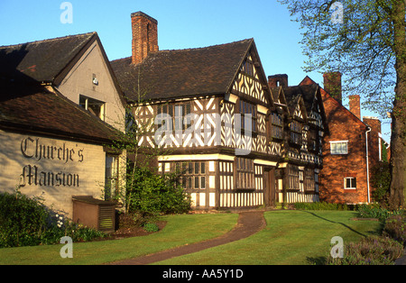 Churches Mansion, Nantwich, Cheshire, England, UK - Stock Photo