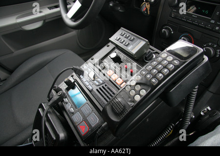 police car radio and emergency control equipment stock photo royalty free image 12526149 alamy. Black Bedroom Furniture Sets. Home Design Ideas
